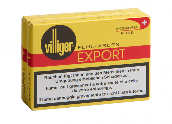 VILLIGER EXPORT Rund Fehlfarbe